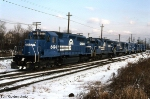 Conrail Herder with New GP15-1s